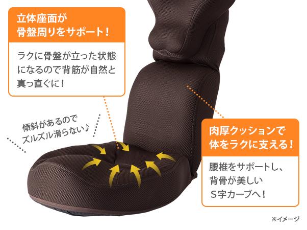 整体師が開発した 首・肩スッキリ座椅子