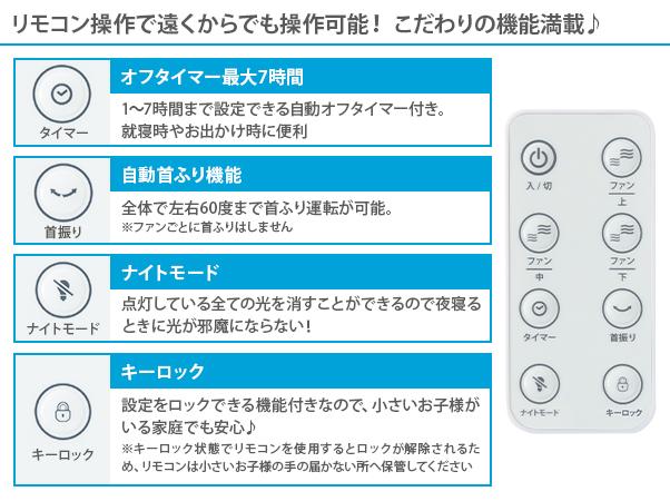【特別価格】アルコレ マルチファン 3連タイプ