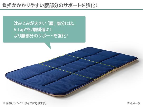 テイジン V-Lap 軽量敷き布団 スーパープレミアム ダブル5