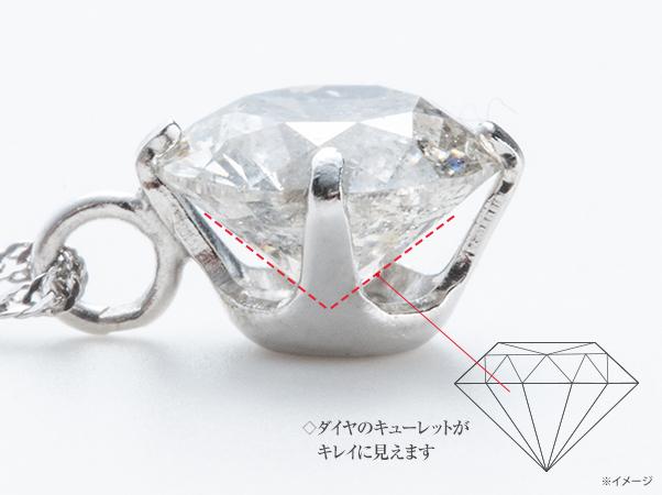オールプラチナ0.7ctダイヤペンダント