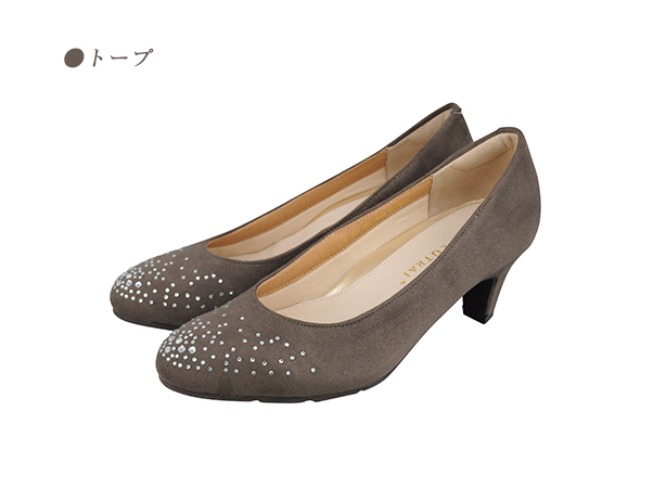 あとりえ岡田 ラインストーン付き5cmヒールパンプス【SALE】11