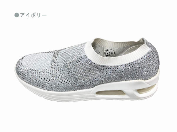 GOMUGOMU ストレッチニットキラキラスニーカー8